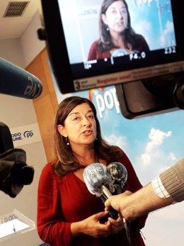 La presidenta del PP, María José Sáenz de Buruaga