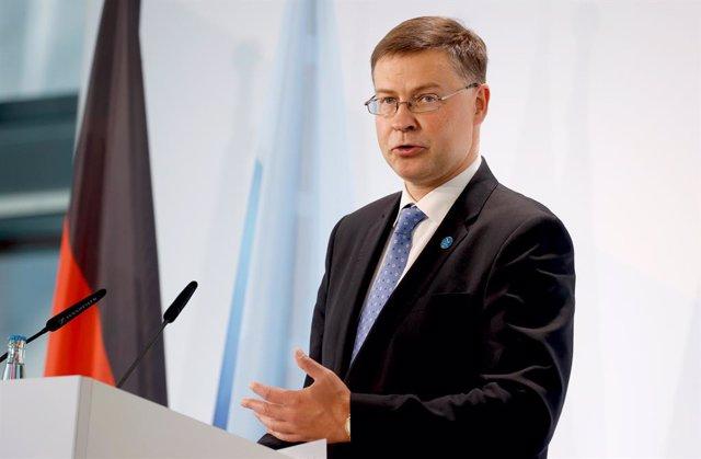 Valdis Dombrovskis, vicepresident econòmic de la Comissió Europea