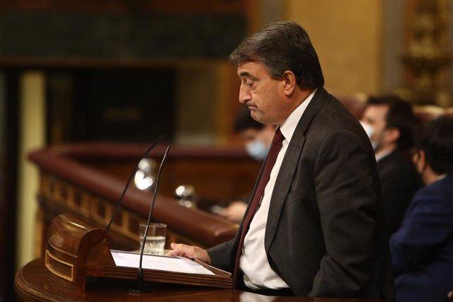 El portavoz del PNV en el Congreso, Aitor Esteban, en el Congreso de los Diputados