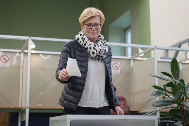 La líder de Unión Patriótica y vencedora de las elecciones de 2020 en Lituania, Ingrida Simonyte.