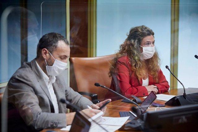 La consejera de Salud informa en el Parlamento  de la evolución de la pandemia en la Comunidad Autónoma Vasca
