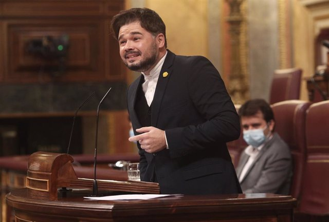 El portaveu d'ERC al Congrés, Gabriel Rufián, intervé al Congrés dels Diputats