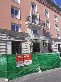 Obras en el hotel Monte Triana