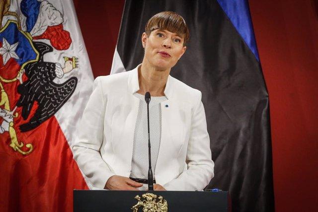 La presidenta de Estonia, Kersti Kaljulaid.