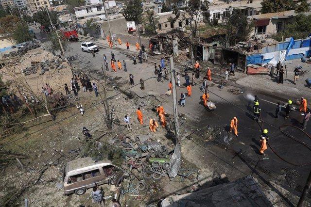 Ataque registrado en un mercado de Kabul, Afganistán, el pasado 10 de septiembre.