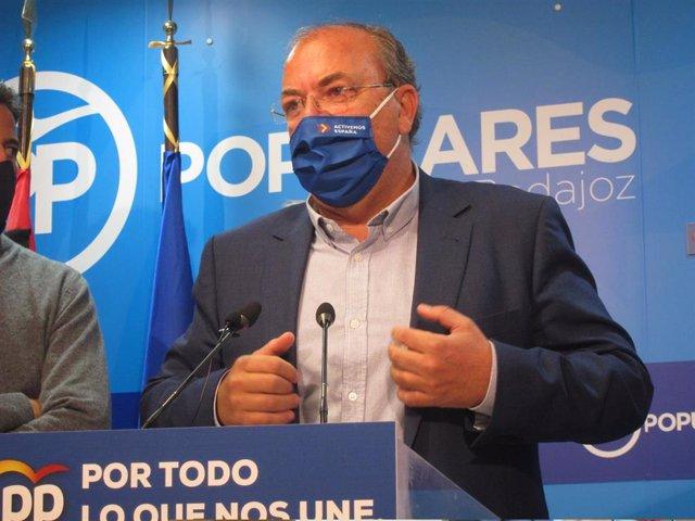 El presidente del PP extremerño, José Antonio Monago, en una imagen de archivo.
