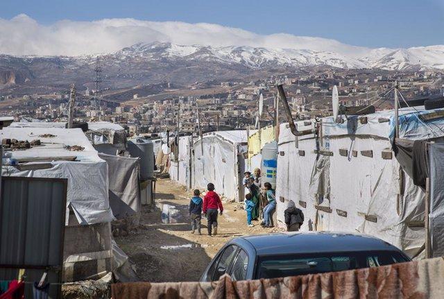 Campo de refugiados de Mohamad Shehab en Líbano
