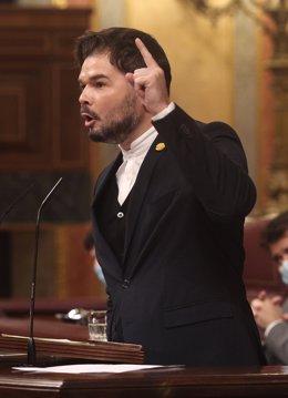 El portaveu d'ERC al Congrés,  Gabriel Rufián. Madrid (Espanya), 12 de novembre del 2020.