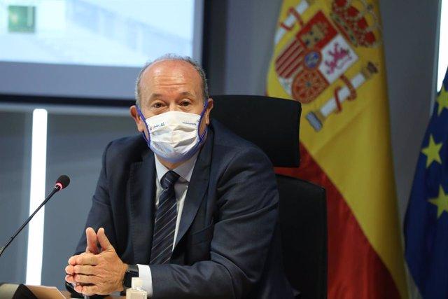 El ministre de Justícia, Juan Carlos Campo, en un acte. Madrid, (Espanya), 4 de novembre del 2020.