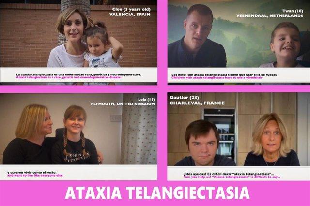 Campaña internacional de Aefat sobre la ataxia telangiectasia.