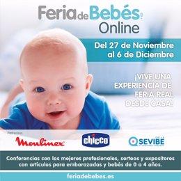 Cartel de la 1ª Feria de Bebés Online en España