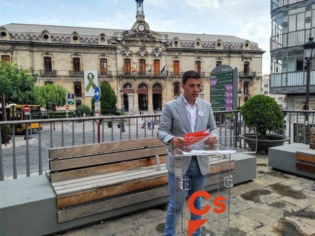 El portavoz de Cs en la Diputación de Jaén, Ildefonso Ruiz