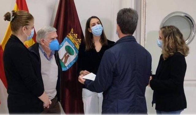 Rita Maestre, José Luis Nieto Y Félix López Rey Del Grupo Municipal De Más Madrid