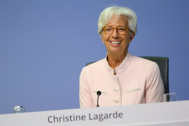 FILED - 16 July 2020, Frankfurt: President of the European Central Bank (ECB) Christine Lagarde speaks during a press conference. Lagarde expressed concern about the current strengthof the euro, saying the ECB was monitoring the exchange rate. Photo: Mar