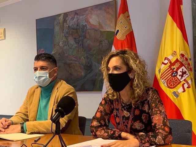 Vicente Marañón, Vicealcalde De Burgos, Y Blanca Carpintero, Concejal De Seguridad Ciudadana.