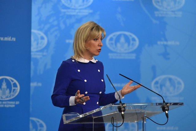 La portavoz del Ministerio de Exteriores de Rusia, Maria Zajarova
