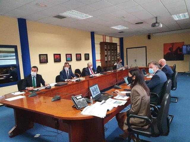 Reunión para analizar el Eje 5 de captación de fondos europeos con el consejero de Desarrollo Sostenible, José Luis Escudero