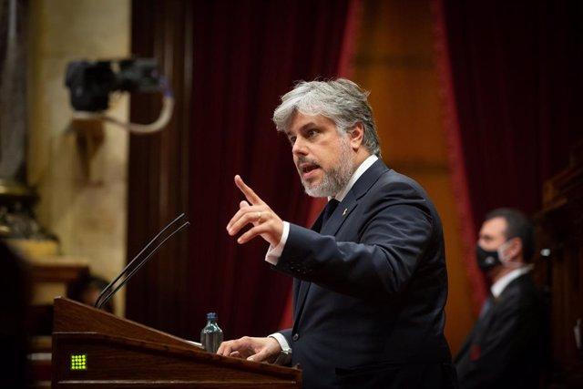 El president de JxCat al Parlament, Albert Batet.