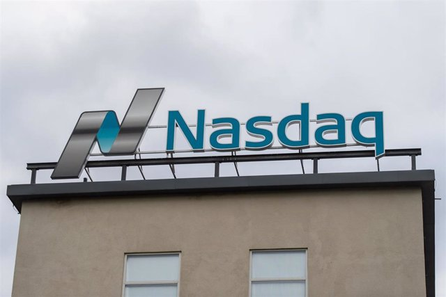 09 March 2020, Sweden, Stockholm: A general view of the Nasdaq Nordic logo on top of the headquarters of the subsidiaries of Nasdaq, Inc. in Stockholm. Photo: Maxim Thore/Bildbyran via ZUMA Press/dpa