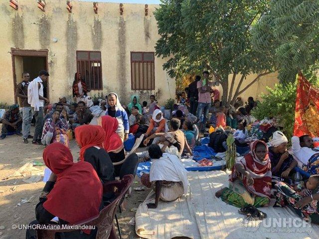 Refugiados etíopes en Sudán tras huir del conflicto en Tigray