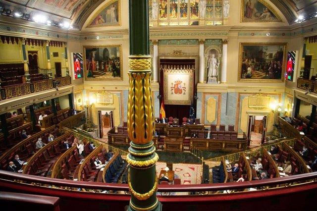 Imagen del Pleno del Congreso este jueves