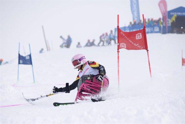 La esquiadora española con discapacidad física Audrey Pascual