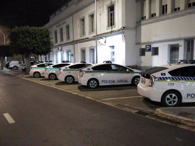 Vehículos de la Policía Local de Melilla