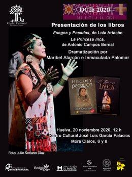 Cartel anunciador de la presentación de dos libros en el OCIb.