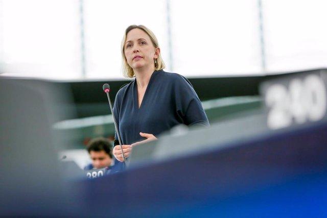 La eurodiputada socialista sueca Jytte Guteland, ha participado este jueves en un encuentro con periodistas organizado por la Oficina del Parlamento Europeo en Barcelona para hablar de la Ley Europea del Clima.