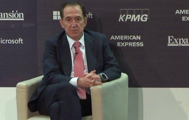 El presidente de Mapfre, Antonio Huertas, en el XI Encuentro del sector financiero organizado por KPMG y Expansión.
