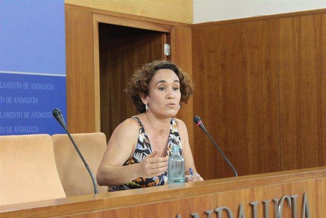 La responsable de las redes de activistas de IU Andalucía, Ana Naranjo, en una foto de archivo