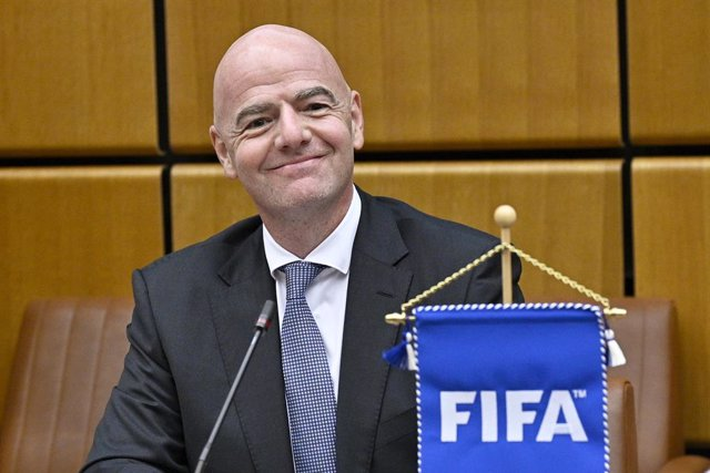 14 September 2020, Austria, Vienna: FIFA President Gianni Infantino attends the signing ceremony for cooperation between the United Nations Office on Drugs and Crime (UNODC) and the International Federation of Association Football (FIFA) against corruptio