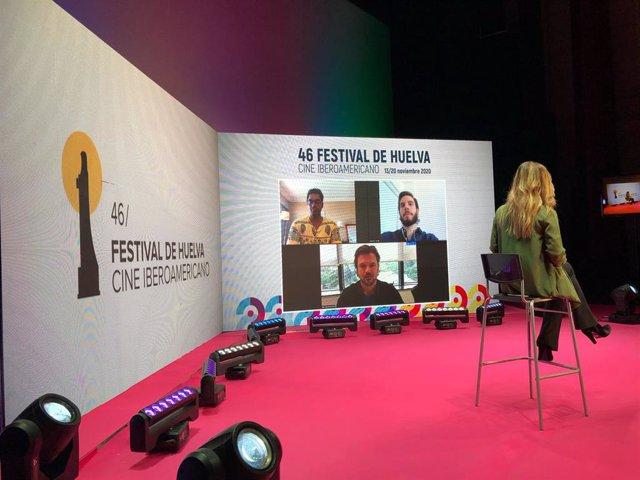 Rueda de prensa de la presentación de la película 'Corral', una de las óperas primas que compiten por el Colón de Oro en la 46 edición del Festival de Cine Iberoamericano de Huelva.