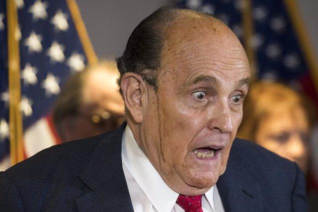 El abogado de Donald Trump, Rudy Giuliani.