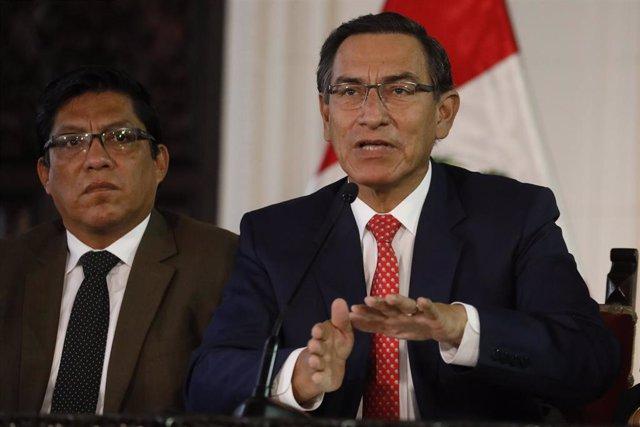 El expresidente de Perú Martín Vizcarra.