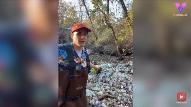 En la última década, Daniel Toben, de 32 años, ha contribuido con el medio ambiente recolectando más de 7.300 bolsas de basura