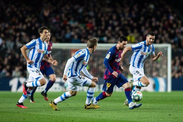 7th March 2020; Camp Nou, Barcelona, Catalonia, Spain; La Liga Football, Barcelona versus Real Sociedad; Lionel Messi of FC Barcelona during La Liga match between Real Sociedad and FCBarcelona at Camp Nou
