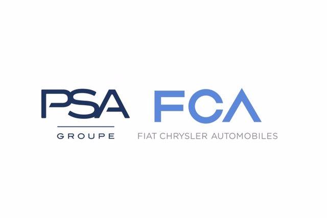 Logo de PSA y FCA