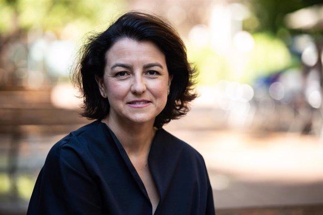 La portaveu del PSC al Parlament, Eva Granados, després d'una entrevista d'Europa Press. Barcelona, Catalunya (Espanya), 6 d'agost del 2020.