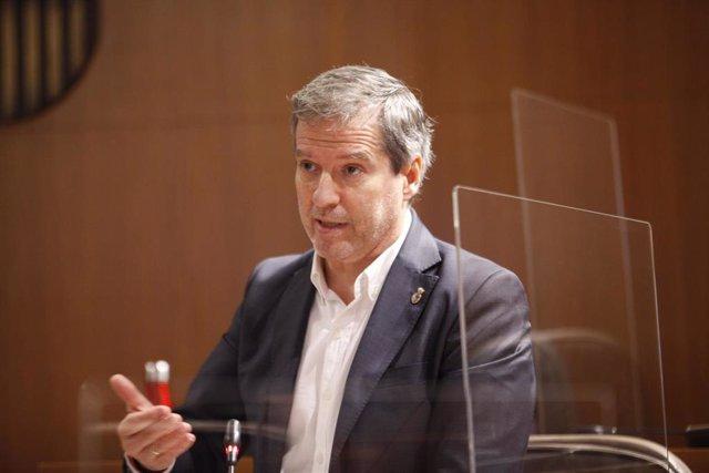 El portavoz parlamentario de Cs Aragón, Daniel Pérez Calvo.