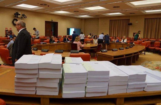 Imagen de la Comisión de Presupuestos del Congreso, durante una tramitación presupuestaria