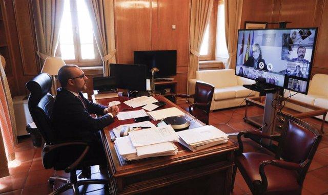 El presidente de las Cortes de C-LM participa en una jornada de infancia.