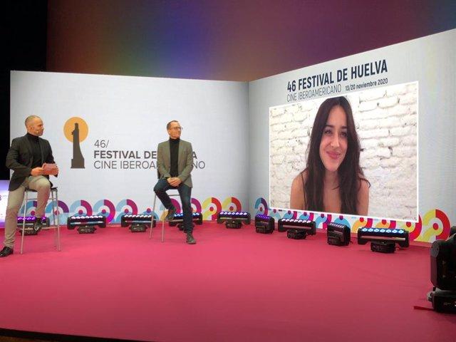 La actriz Macarena García, Premio Luz del Festival de Cine Iberoamericano de Huelva.