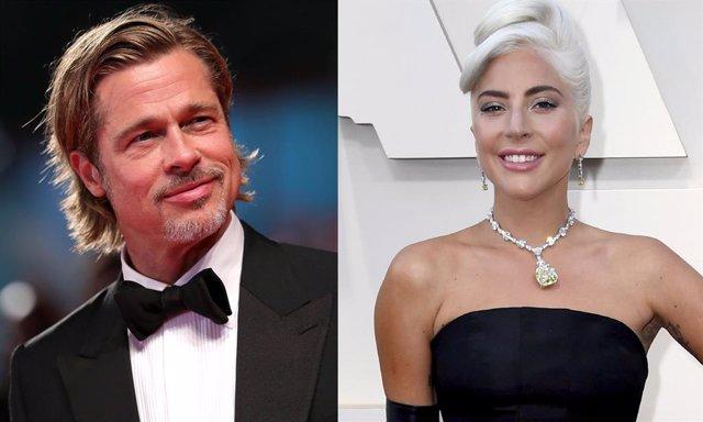Lady Gaga y Brad Pitt en los Oscar