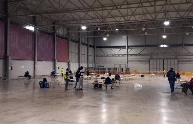 El Jaén Arena habilitado como albergue de temporeros