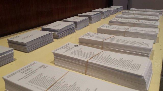 Paperetes per a les eleccions al Parlament del 21-D a Catalunya.