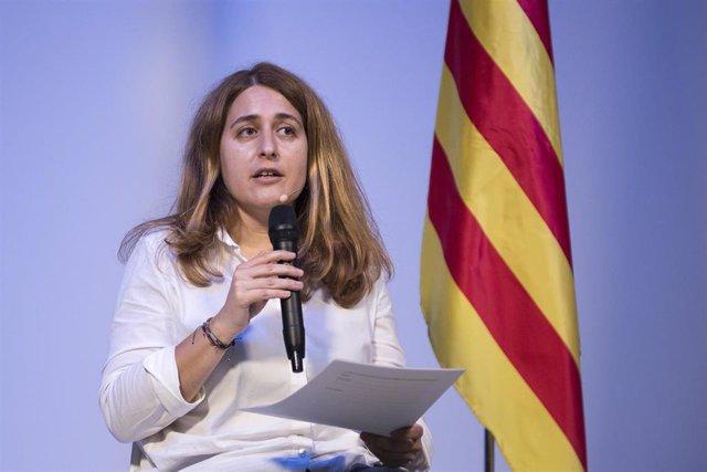 La excoordinadora general del PDeCAT, Marta Pascal, interviene tras haber sido elegida este sábado secretaria general del nuevo Partit Nacionalista de Catalunya (PNC).
