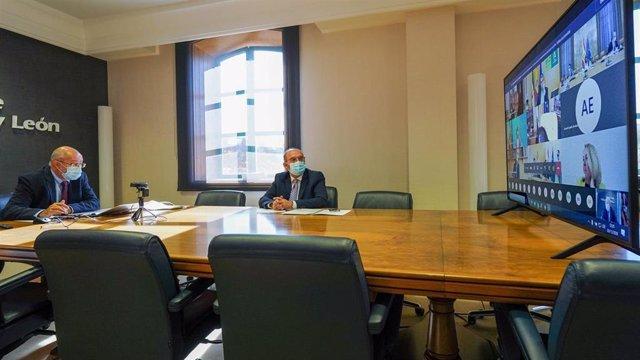 El vicepresidente de la Junta y consejero de Transparencia, Ordenación del Territorio y Acción Exterior, Francisco Igea, durante la Conferencia Sectorial de Reto Demográfico.