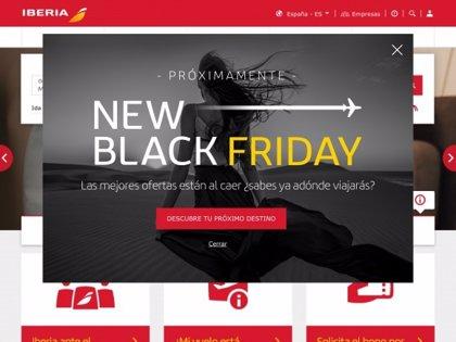 Iberia lanza la campaña 'New Black Friday' que permite comprar billetes para volar hasta el 30 de junio de 2021
