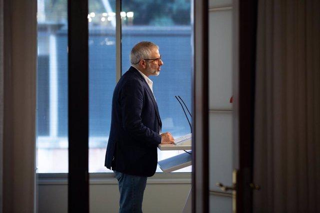 El líder de Cs a Catalunya, Carlos Carrizosa.